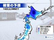 15日(金)は冬将軍が襲来、北日本は暴風雪のおそれ