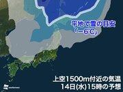 今週は北海道で初雪の可能性大 強い寒気が立て続けに南下