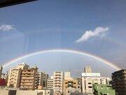 北海道・札幌で二重の虹が出現