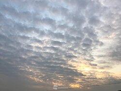 画像:【関東】波打つ夕空 下り坂前兆の波状雲広がる