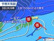 低気圧通過で明日は東北太平洋側も雪や雨 日本海側は午後にかけて続く