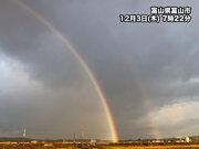 東海や北陸で虹が見られる 二重の大きな虹も