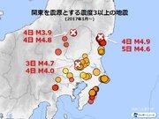 週刊地震情報 2019.12.8 関東で地震多発 震度3以上は3日で6回