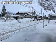 積雪増加 青森県と山形県で1メートル超える