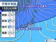 来週は今冬最初の寒波襲来 日本海側は大雪警戒、全国的に真冬の寒さ