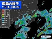 東京都心でも雨に 関東南部は雷雨に注意