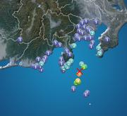 伊豆大島近海でM5.0の地震 利島で震度5弱 津波の心配なし
