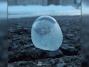 シャボン玉も凍る冷え込み 北海道・釧路