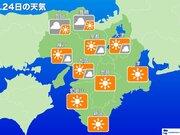 【近畿】明日25日(火) 今年最後の1週間は青空スタート