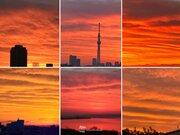 クリスマスの朝は東京など関東で鮮やかな朝焼けに