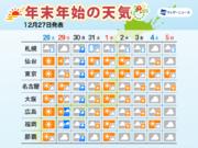 大晦日は冬の嵐 極寒の年越しに 年末年始の天気予報