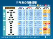 大晦日は荒天のおそれ 新幹線・道路・飛行機への影響は?
