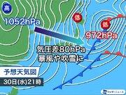 年越し寒波で大雪、暴風加わり猛吹雪も 東京も極寒の中の年越し