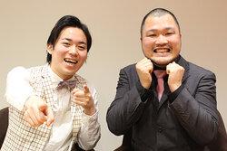 画像:ツッコミ担当の佐藤大樹(左)、ボケ&歌担当の長谷川俊輔(右)/クマムシのデビューシングル「あったかいんだからぁ♪」ミュージックビデオ公開