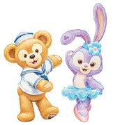 画像:ダッフィーとステラ・ルー(c)Disney