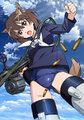 『ブレイブウィッチーズ』ティザーイラスト(C)2014 島田フミカネ・KADOKAWA / 第501統合戦闘航空団