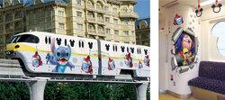 画像:東京ディズニーリゾート、夏のモノレール「スティッチ・エンカウンター・ライナー」を6月26日から運行