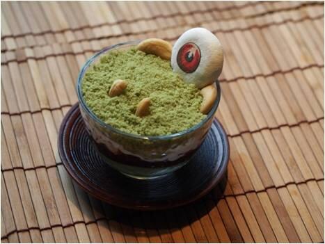 画像:「目玉おやじ」の抹茶パフェ