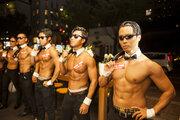 メニューは「筋肉満員電車」に「筋肉メリーゴーランド」 筋肉触り放題の『マッスルカフェ』が東京に初上陸