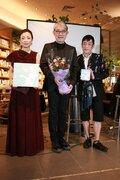 クミコ with 風街レビュー、LP盤発売記念イベントでクミコが紫綬褒章を受章した松本隆に花束を!