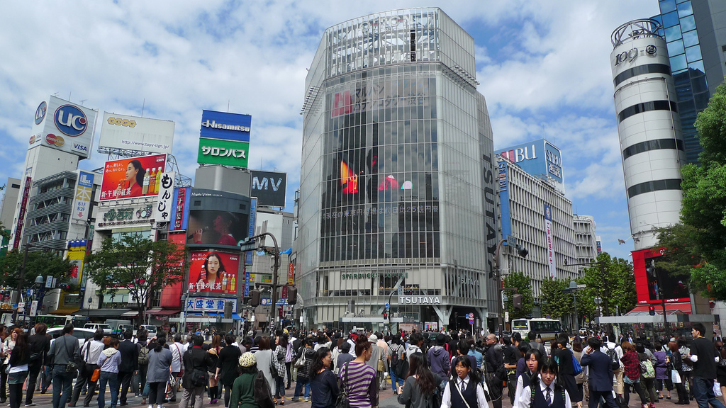 Shibuya crossing Tokió