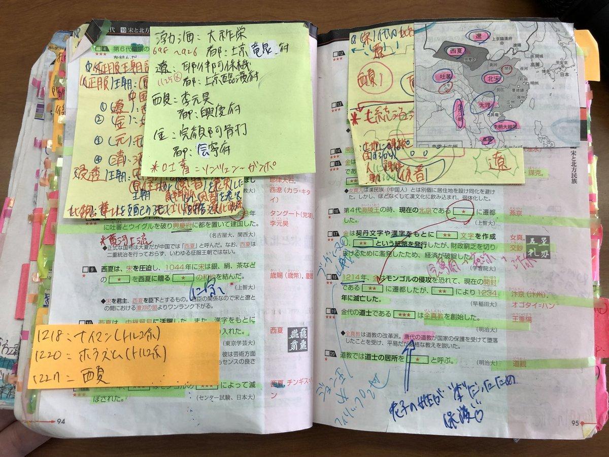世界史で満点を取った生徒の参考書