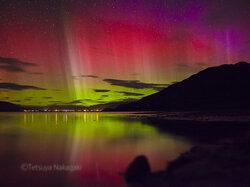 画像:幻想的な赤いオーロラがニュージーランドで撮影される/画像提供:中垣哲也氏