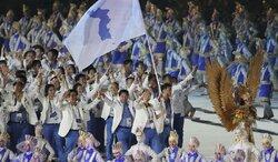 画像:アジア大会で北朝鮮と韓国が合同入場…女子バスケなどで合同チーム