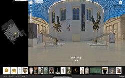 画像:大英博物館のストリートビューが登場!ロゼッタ・ストーンなど4,600点がじっくり鑑賞できる!