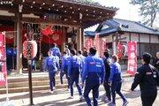 横浜FMが選手全員で必勝祈願…新キャプテン・中澤佑二「誰よりも頑張る上司に」
