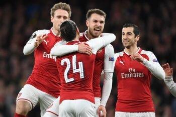 画像:アーセナルがホームで4得点を挙げ、快勝した [写真]=Arsenal FC via Getty Images