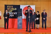W杯トロフィーが静岡に上陸 ゴンや松木氏など豪華メンバー参加試合やリトグリライブ実施