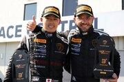 欧州スーパートロフェオ:笠井崇志組がレース1で3位表彰台を獲得