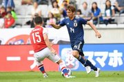 西野ジャパン初ゴールは乾貴士! 鮮やかな右足ミドル、アシストは香川