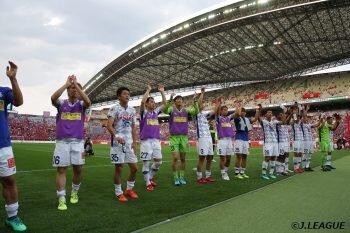 画像:浦和を2戦合計で上回り、ルヴァン杯ベスト8進出を決めた甲府 ©J.LEAGUE