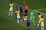今大会初の退場、コロンビア代表MF一発レッド…W杯史上2番目の早さに