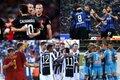 (上段左から時計回りに)ミラン、インテル、ナポリ、ユヴェントス、ローマ [写真]=Getty Images
