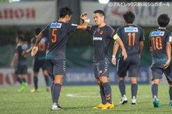 画像:シンガポールカップ準決勝進出を決めたアルビレックス新潟シンガポール