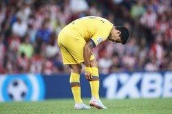 バルサFWスアレス、3〜4週間の離脱か…クラブが右足ヒラメ筋負傷を発表