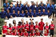U−12ジュニアチャレンジの会見を実施…バルサ&アーセナルの若き選手たちが来日!