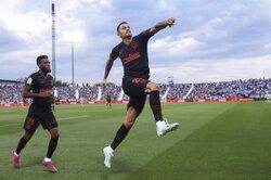 画像:決勝弾を決めたビトーロ、「アトレティコが僕を獲得した理由を示したい」