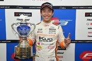 全日本F3:王座獲得の坪井翔「チームの支えで成長できた。今はホッとしています」
