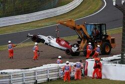 画像:【動画】エリクソンが予選Q1でクラッシュ。赤旗中断に/F1日本GP 予選