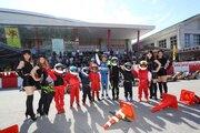 沖縄でのモータースポーツイベントに参加した琢磨。SRSも稼働し、MLB新人王の大谷から育成のヒントも