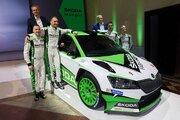 WRC2で連覇続けるシュコダ、フロント一新の改良型ファビアR5発表。2019年下半期に公認取得
