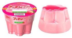 画像:ピンク色のプッチンプリン「ハッピーピンク」が新登場!チェリーソースも華やかな桃のプリン