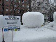 さっぽろ雪まつりに「あんまん」あらわる! 北大恵迪寮の雪像作者に、生まれた経緯を聞いてみた