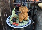 カリッと揚がっておいしそう... 岐阜で発見された「ゴジラの唐揚げ」が話題に