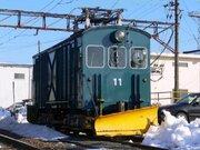 「大正生まれの除雪車」昼夜を問わず奮闘! 福井鉄道「デキ11」、御年95歳