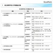【高校受験2019】群馬県立高校の入試日程、学力検査は前期2/13・後期3/7-8